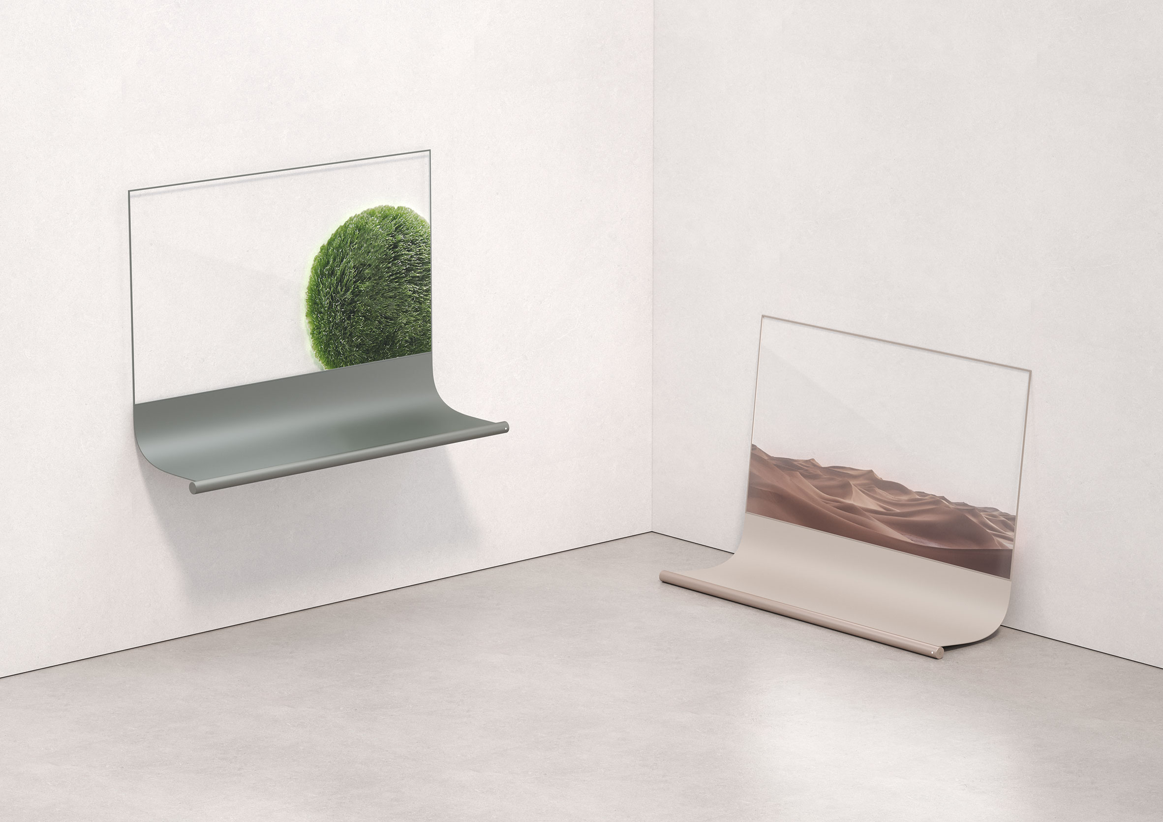 Scroll by Richard Bone a finalist in the Dezeen and LG Display OLED Go competition