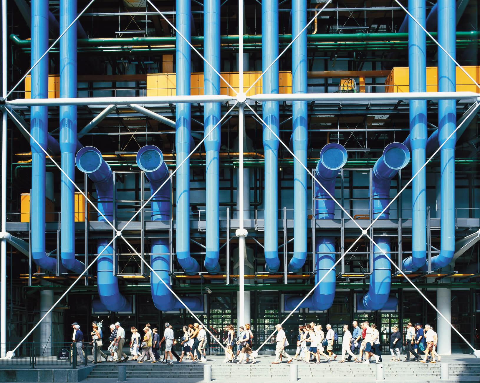 high-tech pompidou beaubourg