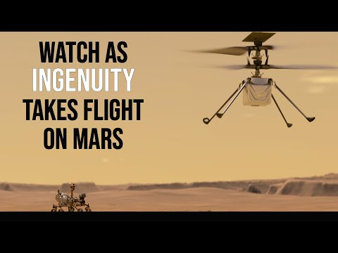 Coverage of the Ingenuity Mars helicopter's first flight!
