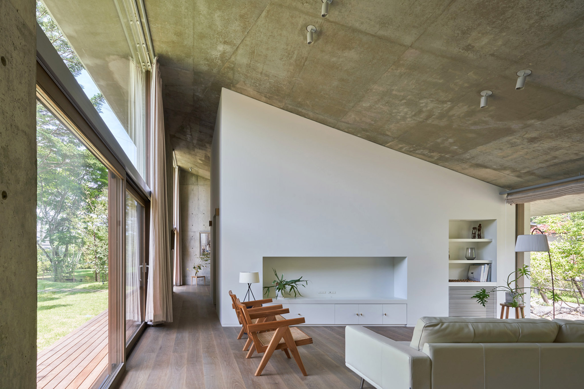 Living room of Symbiotic House for Life After Retirement by READ & Architects