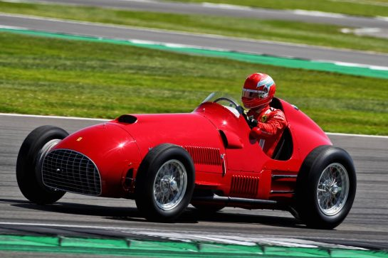 Charles Leclerc (MON) Ferrari laps in a vintage F1 Ferrari. 18.07.2021. Formula 1 World Championship, Rd 10, British Grand Prix, Silverstone, England, Race Day.  - www.xpbimages.com, EMail: requests@xpbimages.com © Copyright: Davenport / XPB Images