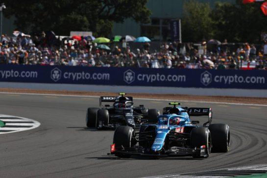 Esteban Ocon (FRA) Alpine F1 Team A521. 18.07.2021. Formula 1 World Championship, Rd 10, British Grand Prix, Silverstone, England, Race Day. - www.xpbimages.com, EMail: requests@xpbimages.com © Copyright: Batchelor / XPB Images