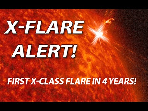 Powerful X-Class Flare Detected! First in 4 years!
