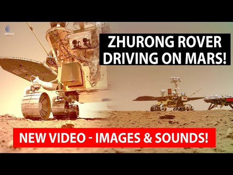 Chinese Rover Zhurong Driving On Mars! New Video, Sounds and Images!