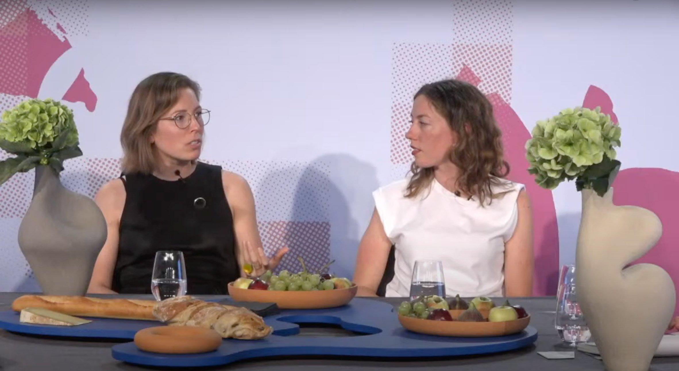 Marjan van Aubel and Pauline van Dongen at Design Miami/Basel talk
