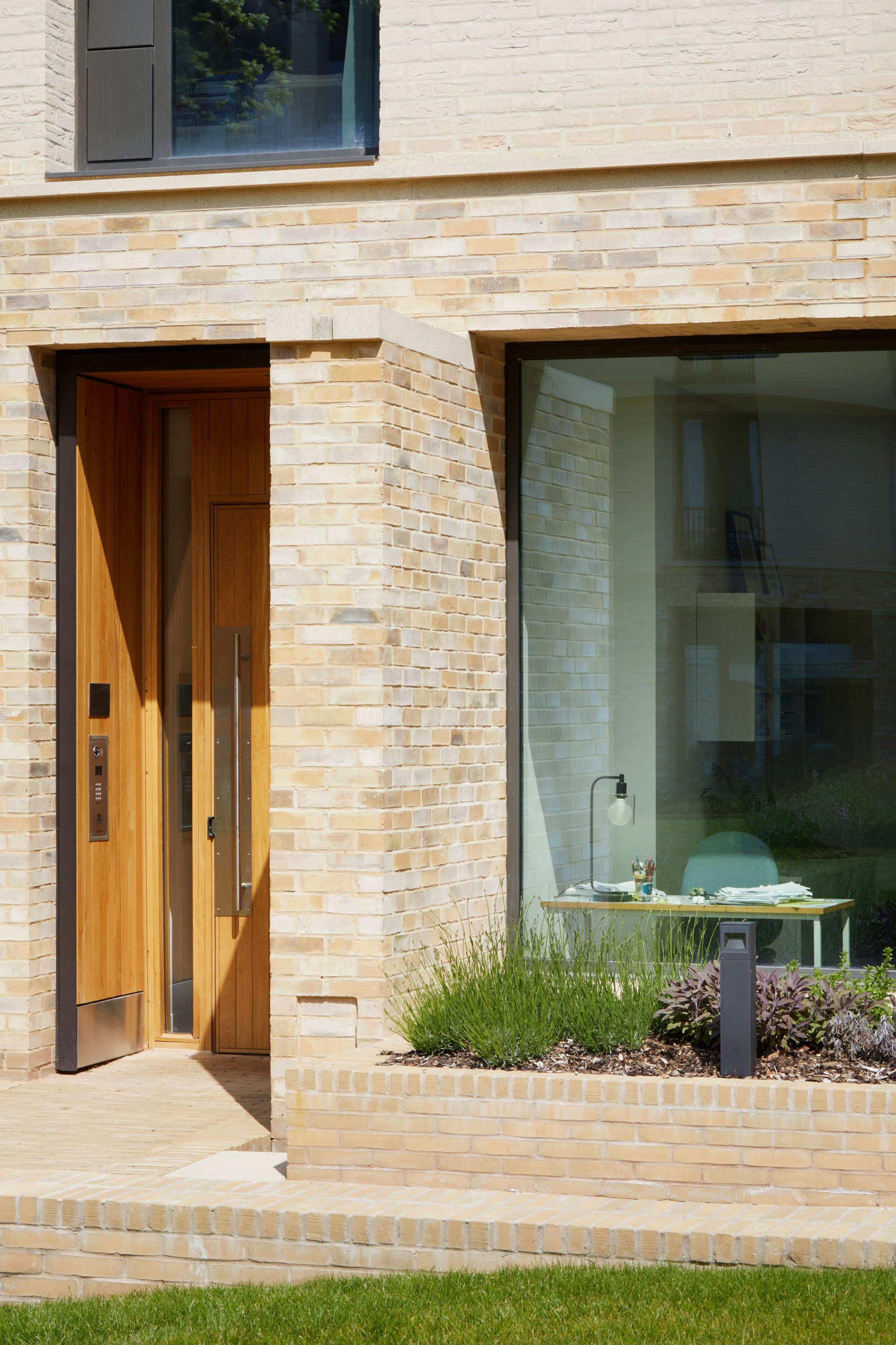 Pale brick was used across the exterior of Key Workers Housing